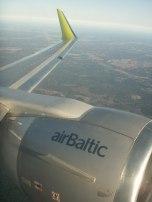 Air Baltic landing in Vilnius
