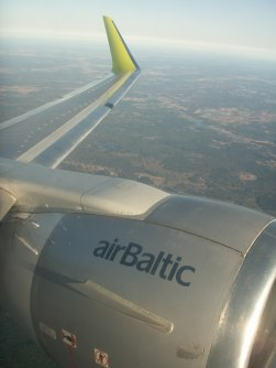 Air Baltic landing in Vilnius