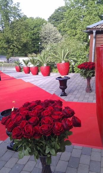 Entré med rosor