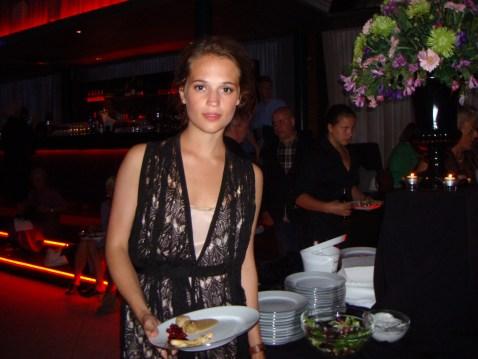 Alicia Vikander på Café Operas efterfest