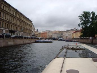 Kanalfärd med båt