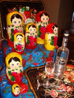 Matroschka med Beluga vodka