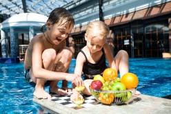 Pool area and kids