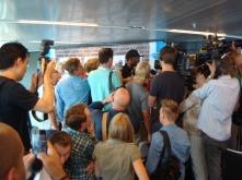 Populär Usain Bolt vid presskonferensen!