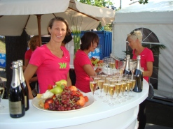 Champagnebaren med kända idrottare