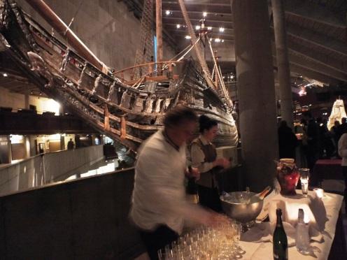 Champagne servering vid skeppet