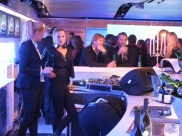 VW showroom bar