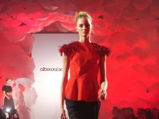 model på catwalk