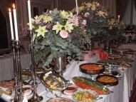 Maten redo för gästerna