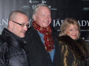 Carl-Jan Granqvist med Alexandra Charles och vän