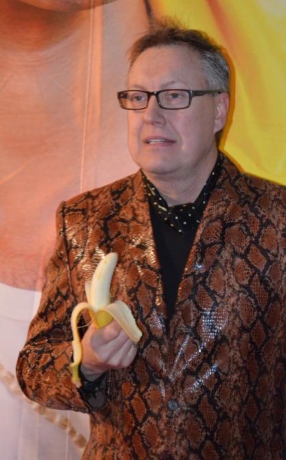 Lars-Åke Wilhelmsson med banan