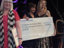 UNICEF vinnarcheck