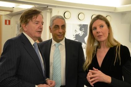 Egyptens ambassadör Osama Elmagdoub med Maria Forssén & sällskap