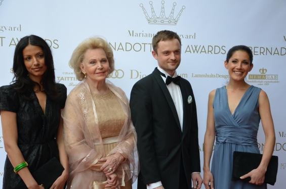 Marianne Bernadotte med sällskap