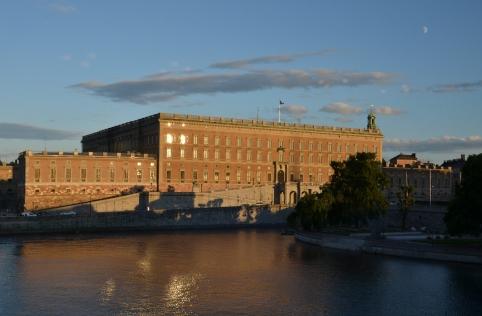 Utsikt Kungliga slottet ifrån Operakällaren