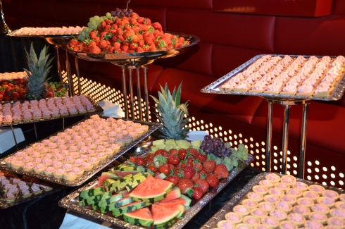 frukt och godis innan filmen