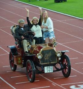 Veteran car for 100 year celebration