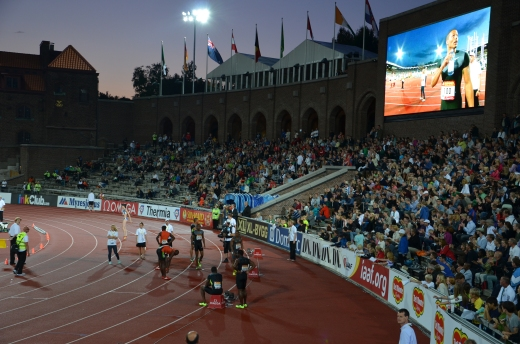 100 meters finish