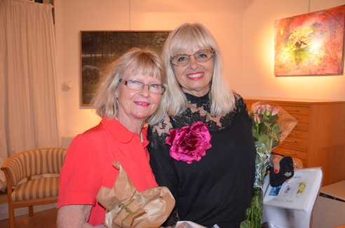 Margareta Sjödin med vän