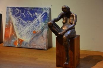 skulptur och tavla