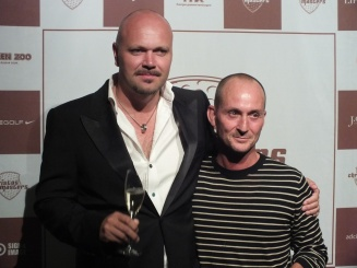 Stefano Catenacci med vän