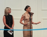 Crownprincess Victoria ready to open the fashion week
