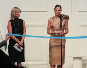 Crownprincess Victoria opens Mercedes fashion week