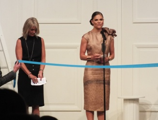 Crown Princess Victoria opens the Mercedes-Benz fashion week