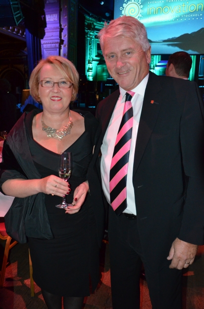 Martin Ahlberg ifrån FIN-S med Cita Högnabba