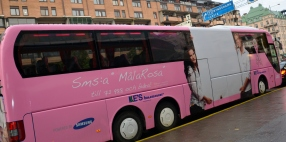 Måla Rosa bussen