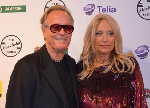Peter Fonda & wife