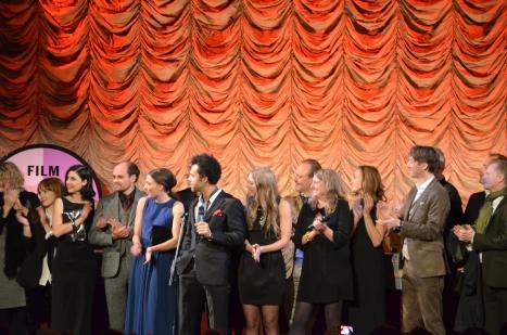 Filmteamet på scen