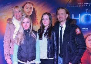 Sofie Bäcklund och Magnus Bäcklund med barnen Linn och Moa
