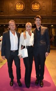 Stephanie Bonn och Frank Bonn med Hans Hjelmqvist