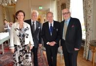 Hovsångerskan Lena Nordin, Jubilaren, skådespelaren Helge Skoog och Fil.Dr. Jan O. Berg.