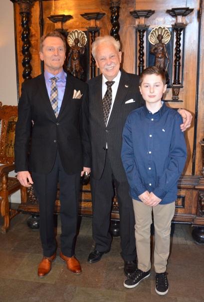 Brorsonen Inge Andersson med sin son Adrian kom från Göteborg.