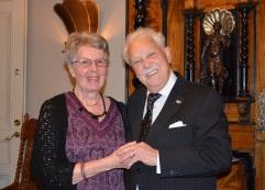 Uppvaktning från Enebybergs Gårds Förening genom sekreteraren Anita Andersson.