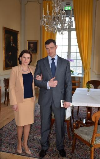 Rysslands militäattaché and Mrs Dmitry Tkachenko.