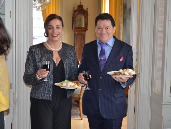 Nicaraguas ambassadör and Mrs Francisco Chavarria.