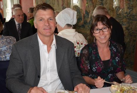 Restaurang Misto krögare Jonas Lind med fru Pernilla.