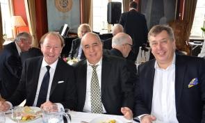 VD vid Flexiwaggon AB, Patrik Z.Kettane och Peter Winroth har det trevligt tillsammans.