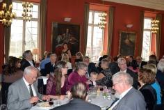 Banérsalen på Djursholms Slott fylld med jubilarens vänner.