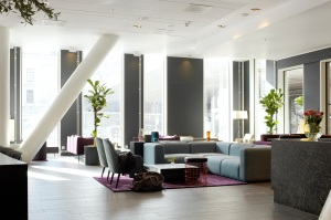 Interior photographs of Scandic Hotels