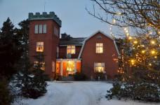 Villa Solborg i vinterskrud.