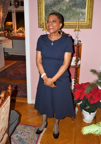 En Ambassadör som charmade alla med att berätta om landets julseder på ett mycket inlevelsefyllt sätt av Sydafrikas Ambassdör Faith Doreen Radebe.