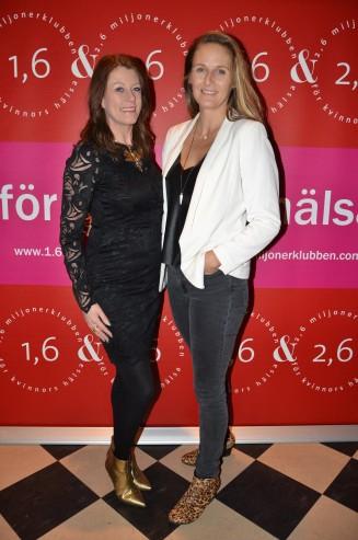 Christina Nilsson med väninna
