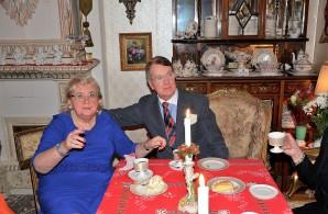 3:e Advent på Villa Solborg. Hovsångerskan Siv Wennberg och Eric-Alexander Carlenstolpe.