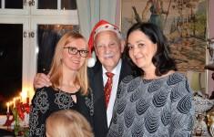 3:e Advent på Villa Solborg. Sybylla Wales från England, Gösta och världskända operasångerskan Katarina Karnéus, senast huvudrollen i Bellini´s opera Norma på Göteborgs Operan.