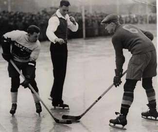 Gustaf Lulle Johansson på isen