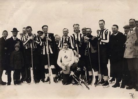 Gustaf Lulle Johansson spelar i Davos - Schweiz 1920-tal
